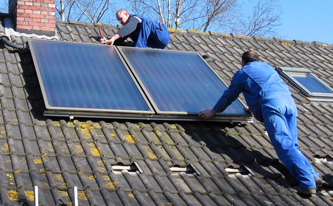 thermische Solaranlage, Foto: Knake